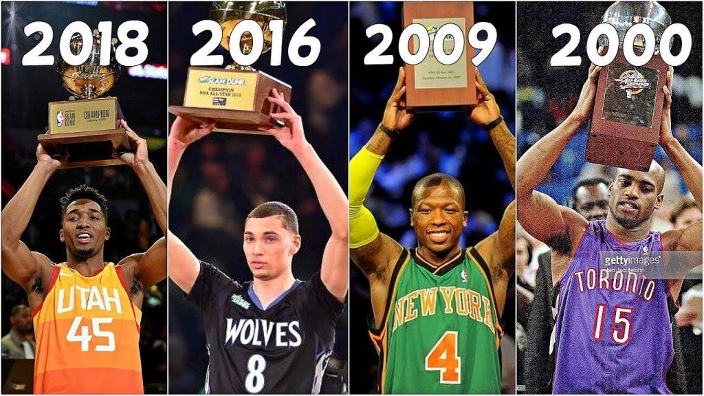 Top 10 DUNKS of NBA Slam Dunk Winners(2000-2018)
