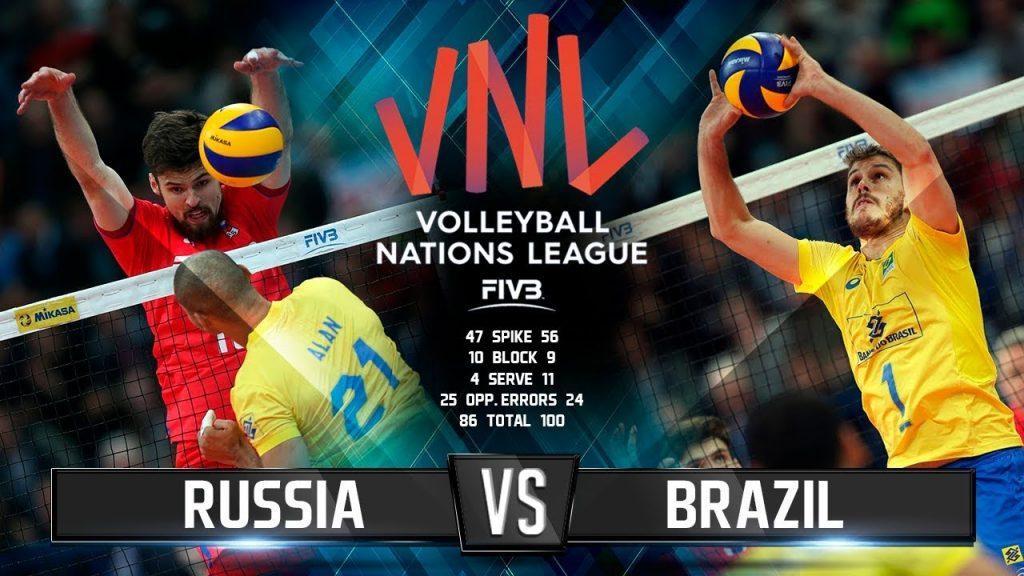 Волейбол | Россия vs Бразилия | Лига Наций 2018 / Russia vs Brazil | Volleyball Nations League 2018