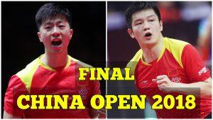 MA Long vs FAN Zhendong | MS FINAL | China Open 2018