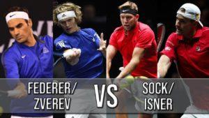 Federer/Zverev Vs Sock/Isner — Laver Cup 2018 (Highlights HD)