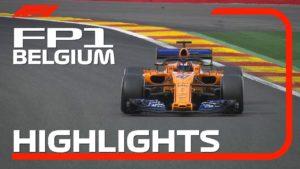 2018 Belgian Grand Prix | FP1 Highlights