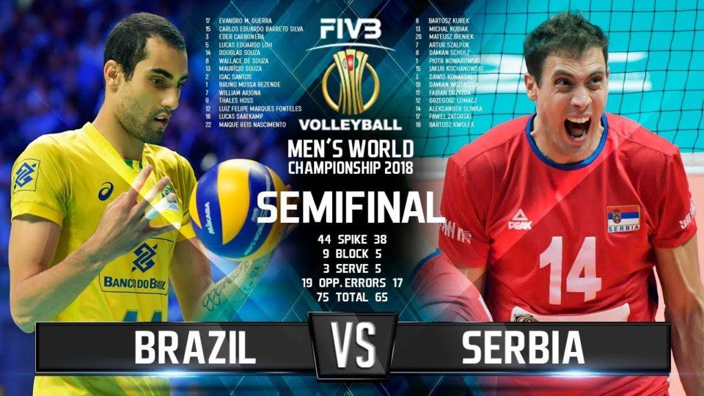 Brazil vs. Serbia   SEMIFINAL   World Championship 2018
