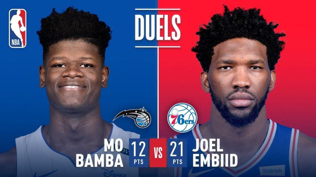 Mo Bamba vs Joel Embiid Battle Of The Bigs   2018 NBA Preseason