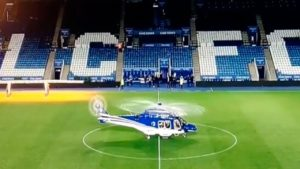 Ужасный новый кадр показывает момент, как вертолет владельца Лестера покидает стадион перед смертью